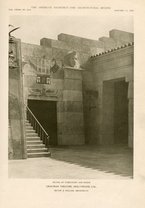 Egyptian theater american architect page three