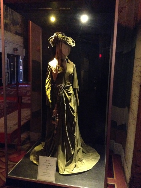 In the lobby they have a number of dresses from famous movies. This one is from Gone With the Wind.