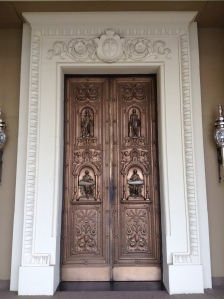 The doors are rather nice though. They're bronze.