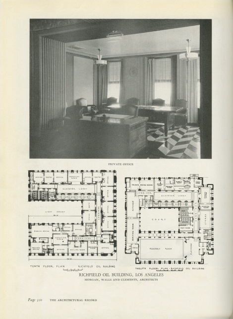 ARCHITECTURAL RECORD RICHFIELD OIL BUILD SECOND ATTEMPT FLOOR PLAN