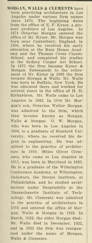 Some information, from this issue, on the architects.
