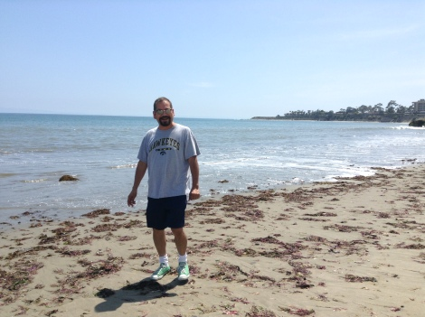 Me, on the beach, in Santa Barbara. My book, The Odd Fellows, was released on December 16, 2013.