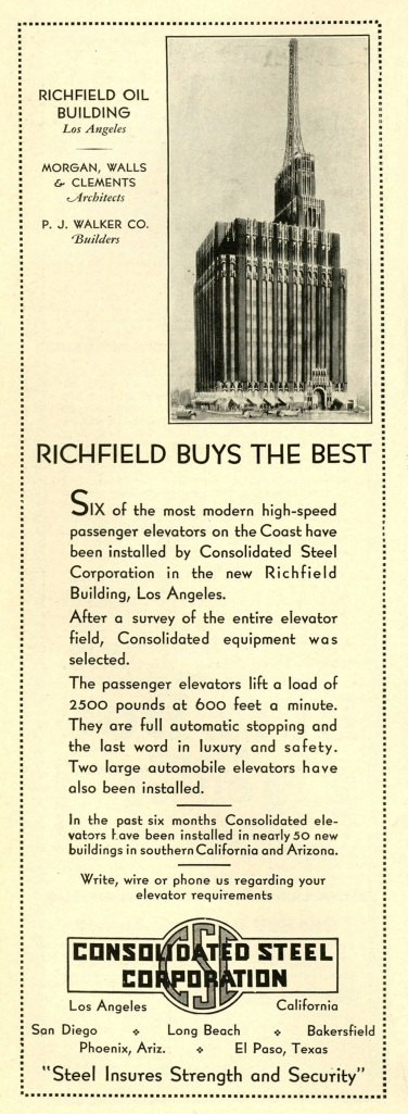 The building in an advertisement.