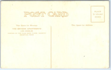 This is the back of the above postcard.