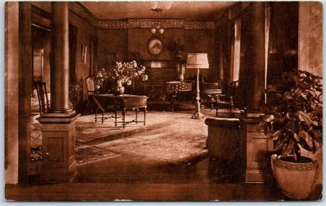 I found this old postcard which doesn't look like the interior I would expect of the Bryson.