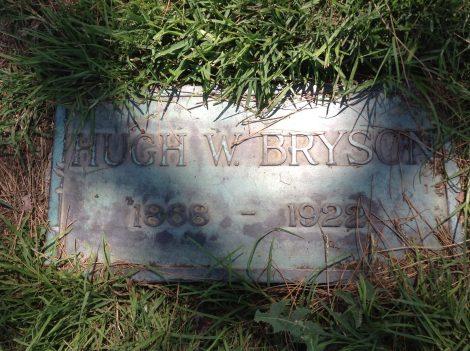 hugh bryson grave marker 2