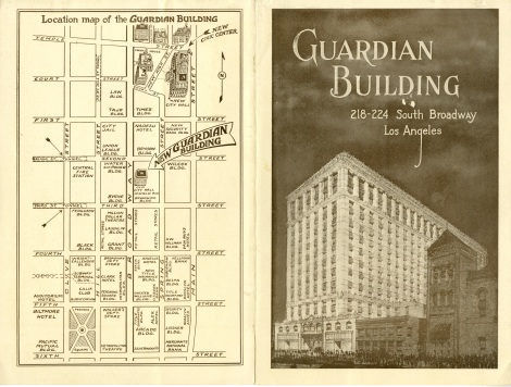 This is an advertisement for a building that never got built. The front and back covers.