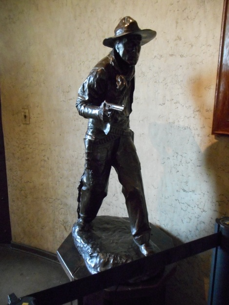 This statue of Hart is on the second floor landing. I think it would be weird to be surrounded by statues and photographs of yourself.