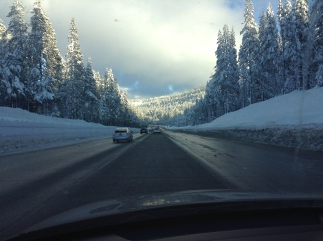 Driving up there required me to take interstate 5 all the way to Sacramento and then the 80 east to Reno. I didn't expect the snow.