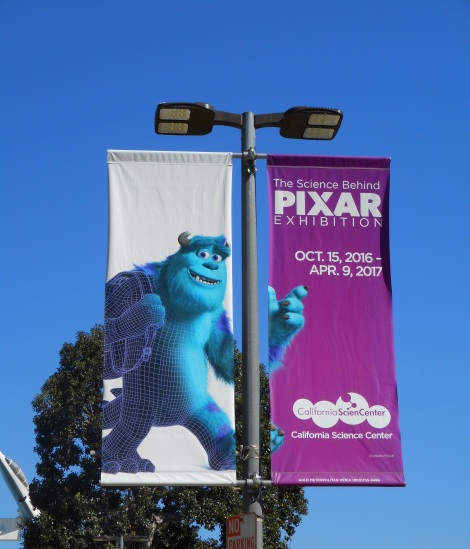 It was an exhibit concerning Pixar animation.